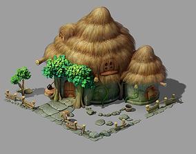 3D model Game Snow White Cottage 03