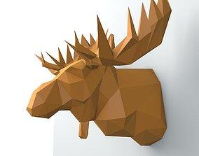 moose head 3D print model