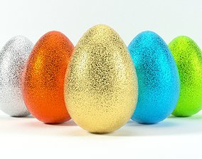 Glittering easter egg with 4K PBR textures and 5 3D model