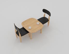 3D model Curve Cafe Chair