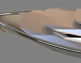 MEGA YACHT EXTERIOR CONCEPT DESIGN 3D model