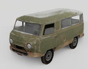 3D model game-ready Uaz-452