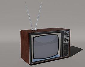 3D model Old Style Vintage TV