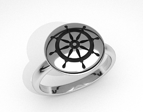 new fashion round sailors steering 3d jewelry ring