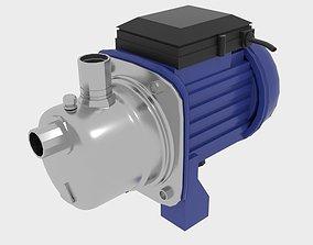 3D model Industrial Self Priming Water Pump