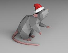 Christmas mouse 3D printable model