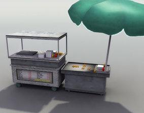 Street Hotdog Stand 3D model