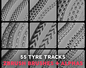 Tyre Tracks Alphas Pack Vol1 3D