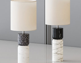 CB2 - STACKED TABLE LAMP 3D model