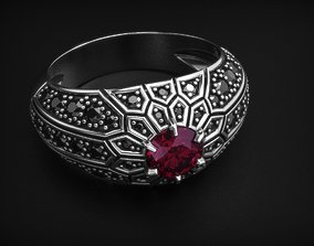 3D print model Delicate stylish womens ring with diamonds