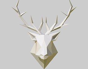 poly 3D printable model deer head
