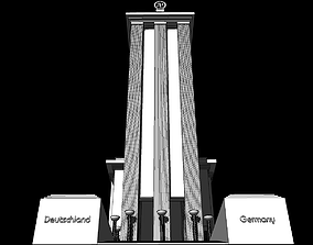 3D model Nazi Germany Pavilion at the 1937 Paris 1