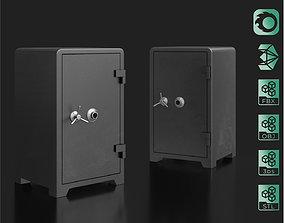 Safe locker lowpoly 3D model