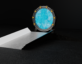 Portal alien 3D asset low-poly