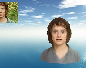 Frodo Baggins The Lord of the Rings Bust-Head-Face 3D