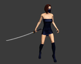 animated 3Dfoin - Female Ninja