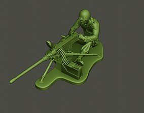 American soldier ww2 firing A7 3D printable model