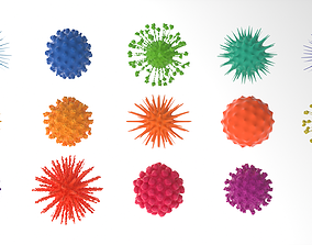 organic Virus pack volume 1 3D model
