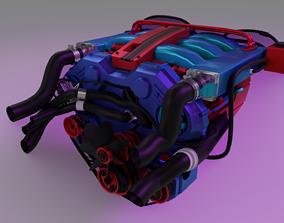 Engine Motor Car 3D model