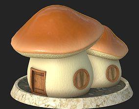 3D model Cartoon mushroom house 4