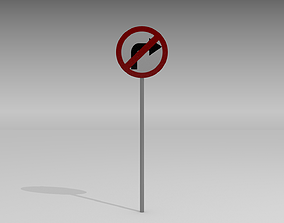 3D Right turn prohibited