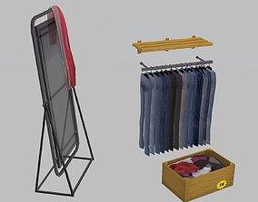 Set Close store items 3D asset