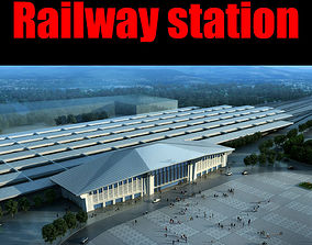 3D rigged Railway station