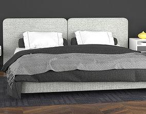 3D model Minotti Tatlin Cover Bed