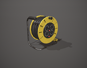 3D model Black and Yellow Extension Cable