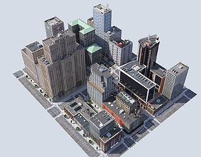 game-ready york Metropolis city block 3D