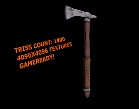 3D model Most recognisible Native American weapon-tomohawk