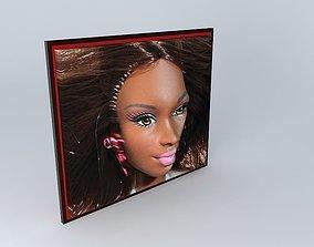BARBIE 3D African Porcelain Doll....