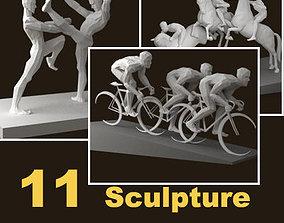 Olympiad sport sculpture 3D