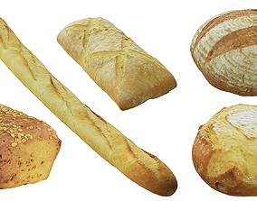 Bread BLENDER 3D Model Cycles