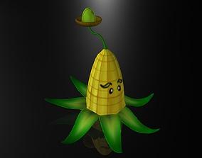 Cartoon Corn Plant 3D asset