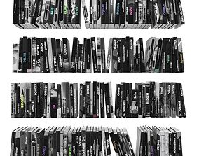 Books 150 pieces 3-2-2 3D asset
