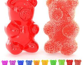 Gummy Sugar Bears 3D model