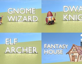 Fantasy Group - Funny Team with Funny 3D asset