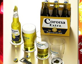Corona Beer Collection 3D model