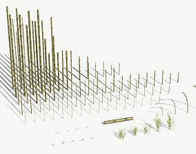 3D model Bamboo Stakes Kitbash