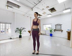 3D model Sports Legging and Bra