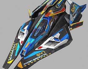3D model Racing SciFi Ship