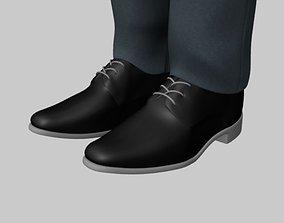 Formal black shoe 3D print model