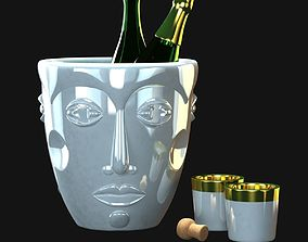 3D Faces- Champagne coolers by Sieger