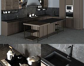 Frame Snaidero Kitchen Furniture 3D