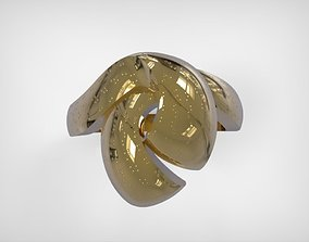 3D printable model Jewelry Golden Ring Ribbon Knot Design