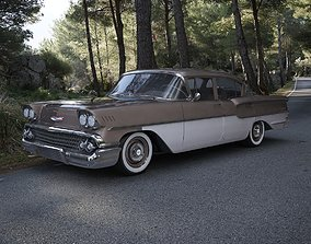 Chevrolet Delray 4-Door Sedan 1958 3D 1959
