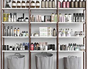 3D Cosmetic set on the shelves Beauty Salon