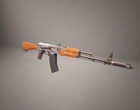 AK47 assault rifle 3D asset low-poly