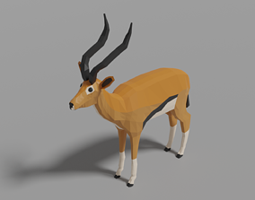 Cartoon Gazelle 3D model